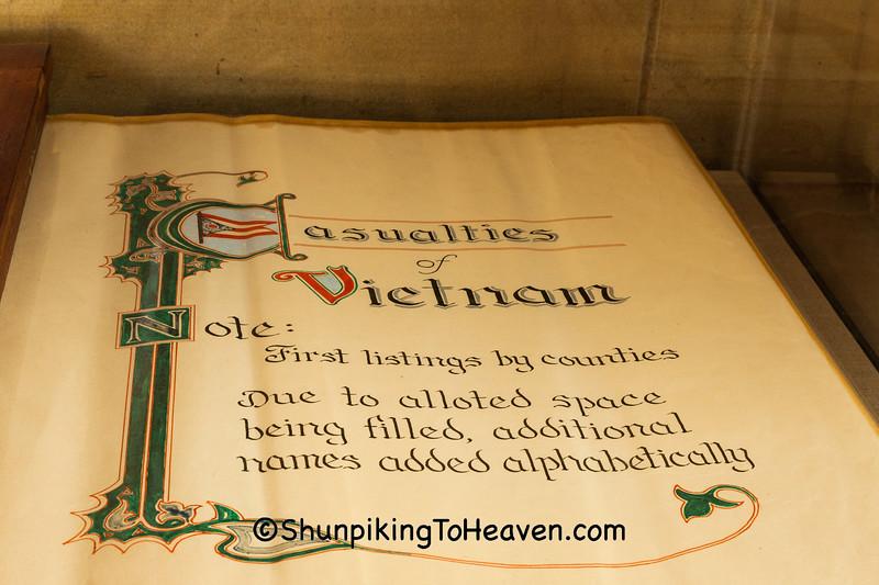 Book of Vietnam War Casualties, Ashland County, Ohio