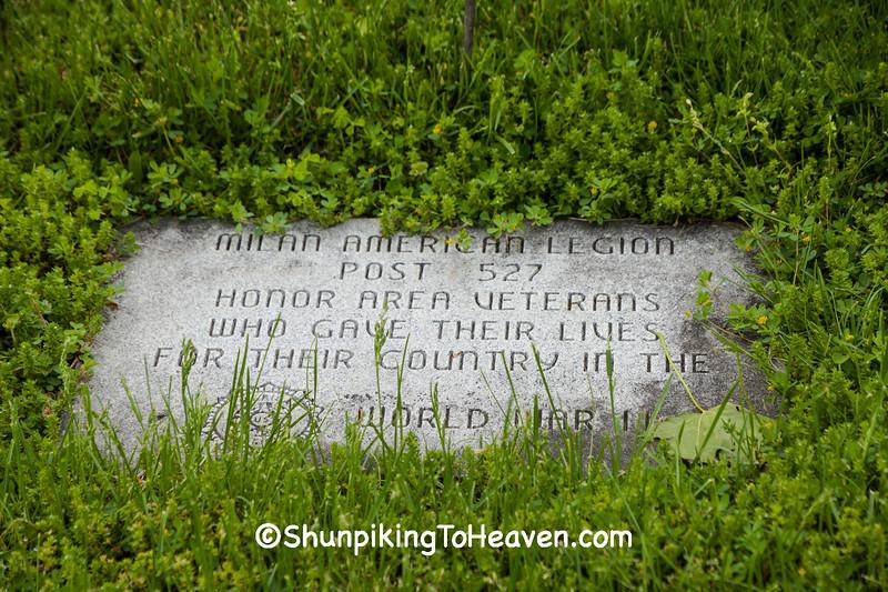 World War II Memorial Stone, Milan, Ohio