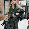 Eliza and Joshua Weidenhamer, from the Stratton Players, dress as Charles Dickens characters during the Memories of Main Street event in Fitchburg on Saturday, December 9, 2017. SENTINEL & ENTERPRISE / Ashley Green