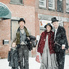 Eliza and Joshua Weidenhamer, Emily Vail and Joel Arnold, from the Stratton Players, dress as Charles Dickens characters during the Memories of Main Street event in Fitchburg on Saturday, December 9, 2017. SENTINEL & ENTERPRISE / Ashley Green