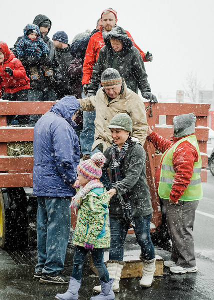 Hollis Hills Famr provided hay rides during the Memories of Main Street event in Fitchburg on Saturday, December 9, 2017. SENTINEL & ENTERPRISE / Ashley Green