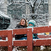 Katrina and Maddie Couture enjoy a hay ride from Hollis Hills Farm during the Memories of Main Street event in Fitchburg on Saturday, December 9, 2017. SENTINEL & ENTERPRISE / Ashley Green