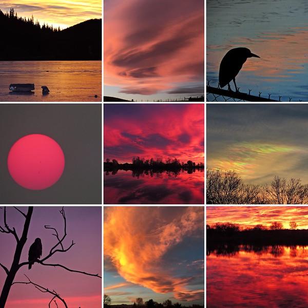 best nine sunrises