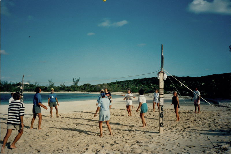 Volley ball beach, Stocking Island, Georgetown