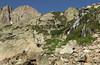 Longs Peak and Chasm Falls below Mount Lady Washington