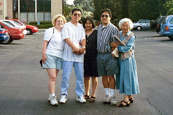 1996 California trip (our wedding)