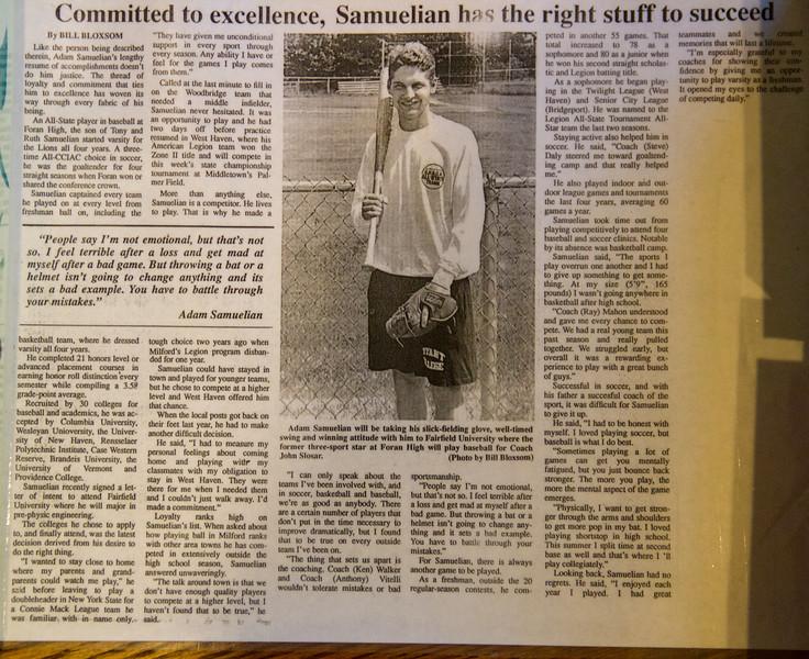 Memories 1993 newspaper bio baseball