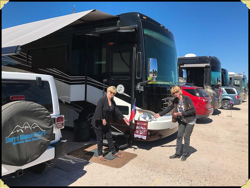 Setting up camp at Rally, Chandler, Az