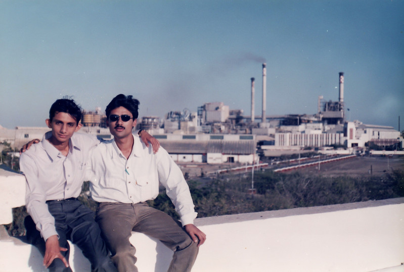 With one of the best friend Pushpendra (Location: View of Tata Chemicals from Mitha Mahal Terrace)