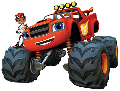 A.J. and Blaze in BLAZE AND THE MONSTER MACHINES on Nickelodeon.  Photo:  Nickelodeon. ©2014 Viacom International, Inc.  All Rights Reserved.