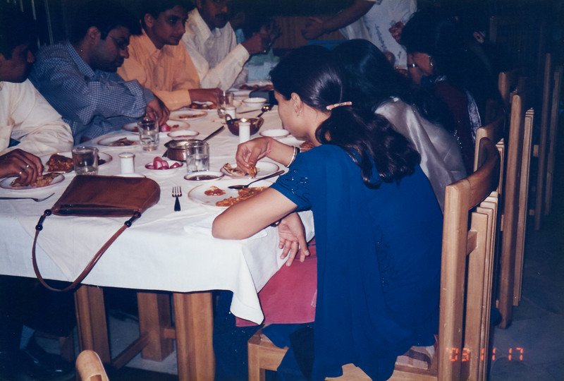 17/11/2003 - 1st Marriage Anniversary - Dinner with friends