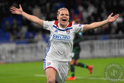 Olympique Lyonnais vs Vfl Wolfsburg - UEFA Women's Champions League Quarter Final 1st leg