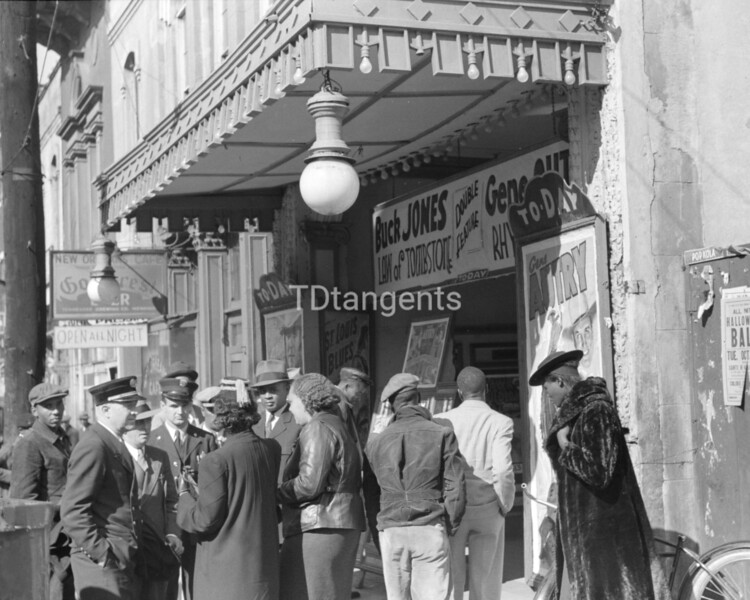Entrance to a movie house, Beale Street, Memphis, Tennessee, 1939