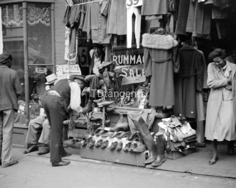 Untitled photo, possibly related to: Secondhand clothing store on Beale Street, Memphis, Tennessee, 1939