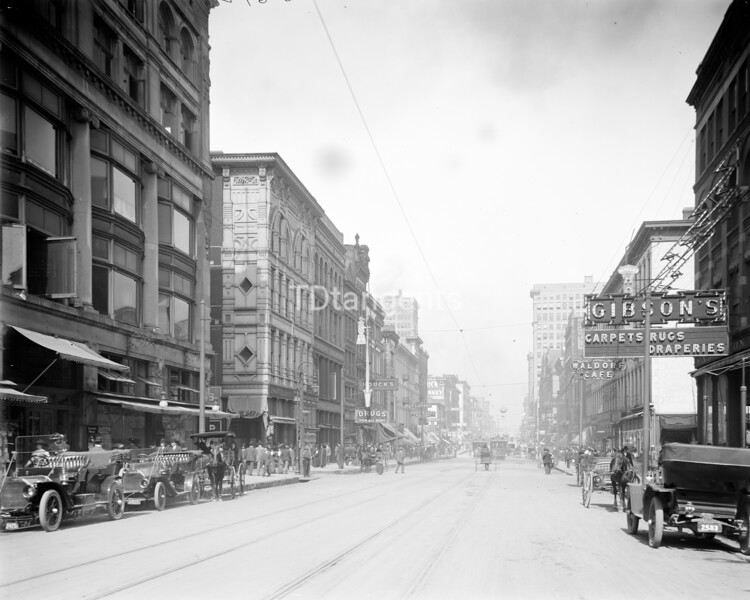 Main Street, north from Gayoso Avenue, Memphis, Tenn., between 1900 and 1915
