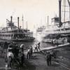 A Mississippi River landing, 1906