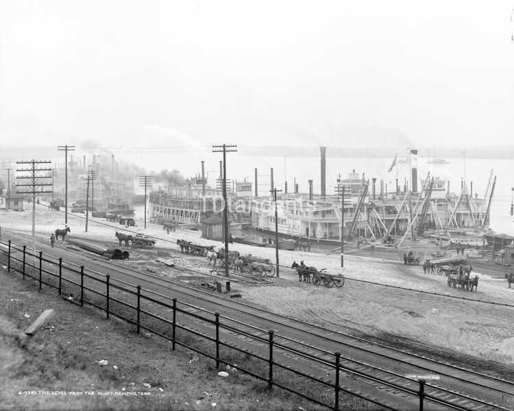 The Levee from the bluff, Memphis, Tenn., ca. 1906