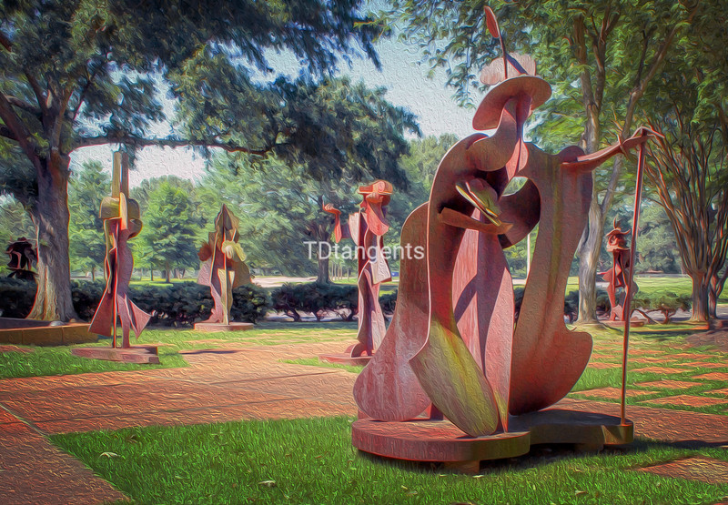 Sculpture Garden at Theatre Memphis