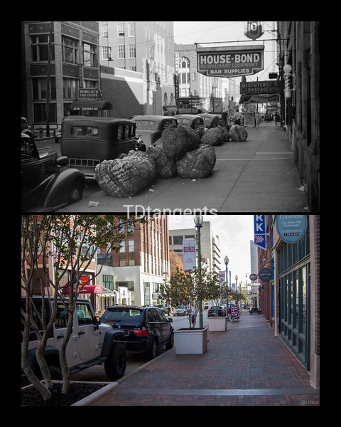 Union Ave from Cotton Exchange Bldg 1939/2017