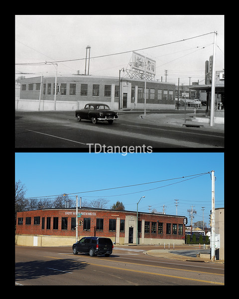 South Main and Crump, 1950s?/Ghost River Brewing 2019