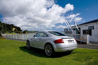 Audi TT at latitude 35 deg South - Pahia, North Island, New Zealand.