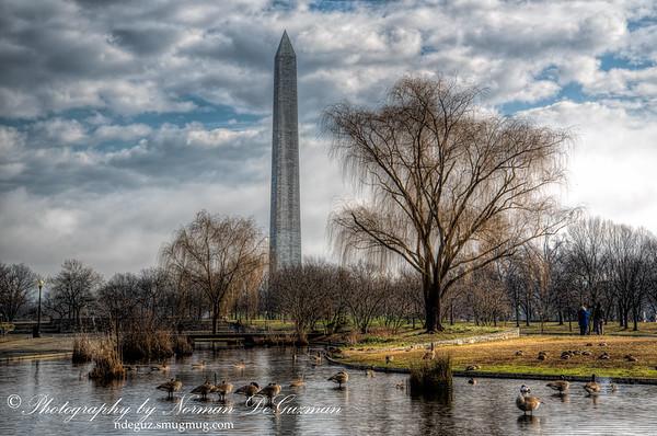 Washington Memorial Across the Pond