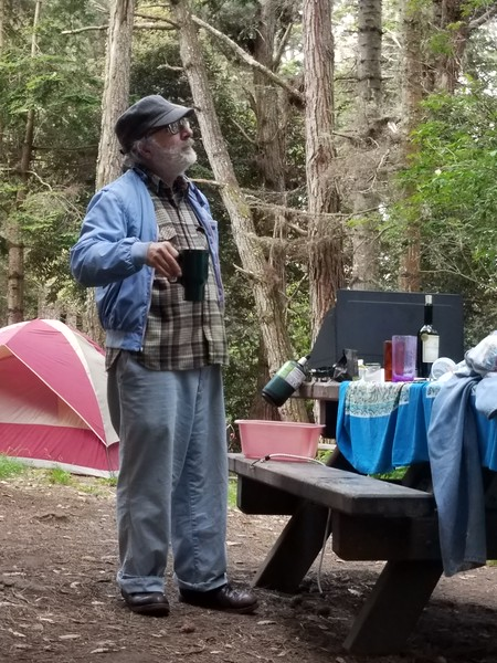 Morning coffee at campground