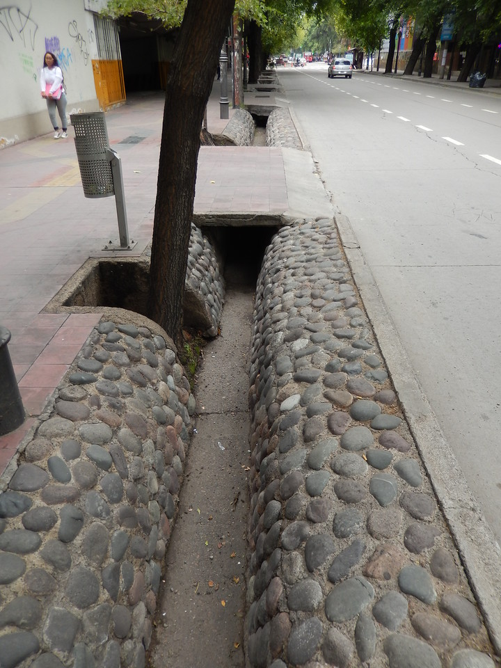 Street drainage, Mendoza