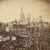 Vrijdagmarkt, inhuldiging van het standbeeld van Jacob Van Artevelde tijdens de Gentse Feesten.