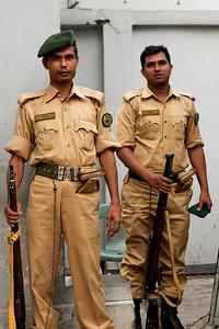 Vagter ved et Danida projekt i Saidabad, Bangladesh