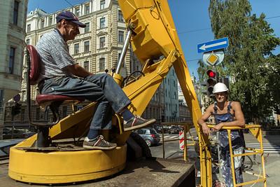 Gadebillede/stemning fra Riga, Letland.