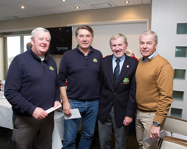 Winners of the AGM Fourball Andy Kavanagh, Pat Baker & Kevin O'Gorman with Captain Jim