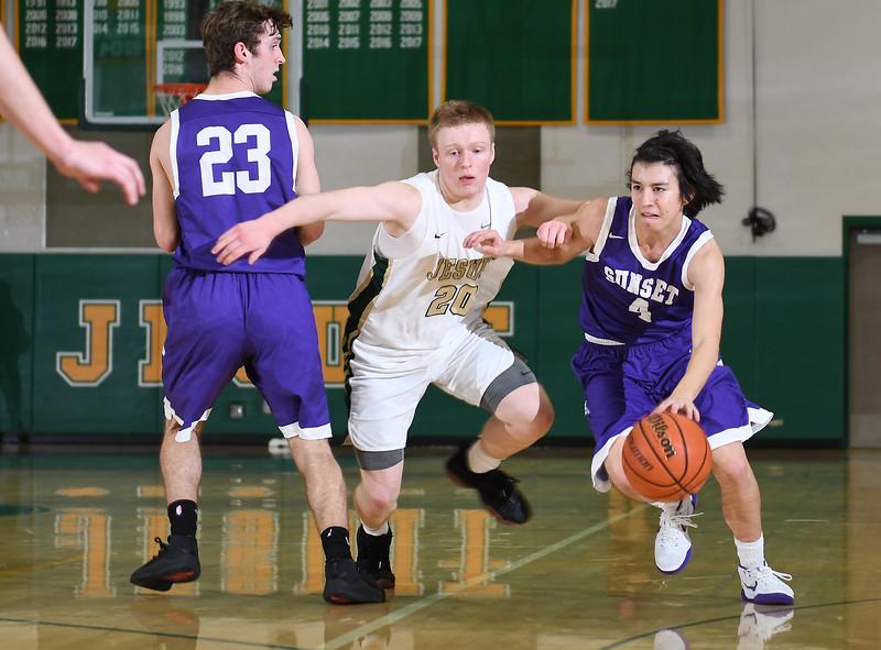 Man's Varsity Basketball - Jesuit Crusaders vs. Sunset Apollos