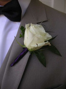White rose  and greens $14