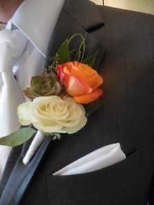 Roses and succulent  mixed greens- $30