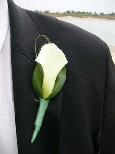 Single calla ( groomsman) $15