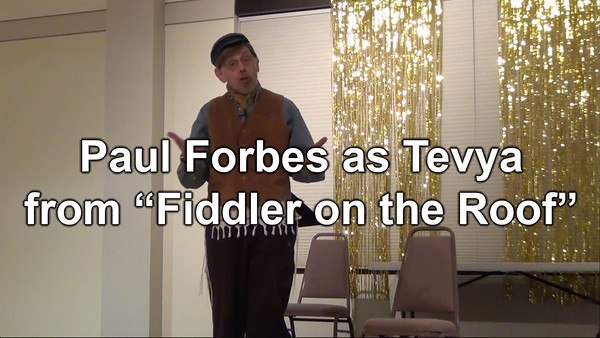 "Act II - Paul Forbes as Tevya from ""Fiddler on the Roof"""