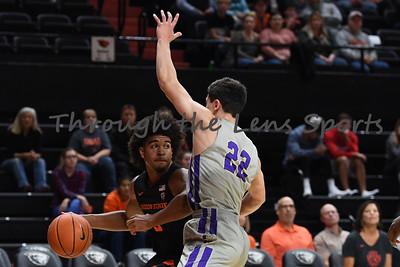 Oregon state mens basketball vs  Carroll College 102319 Leon N543