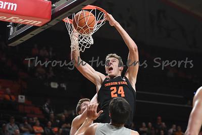 Oregon state mens basketball vs  Carroll College 102319 Leon N550