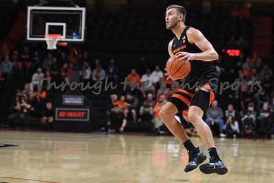 Oregon state mens basketball vs  Carroll College 102319 Leon N551