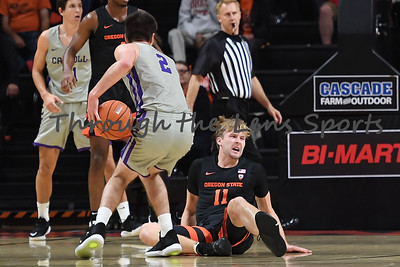 Oregon state mens basketball vs  Carroll College 102319 Leon N538