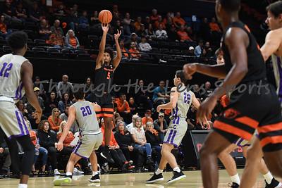 Oregon state mens basketball vs  Carroll College 102319 Leon N533