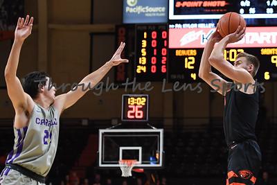 Oregon state mens basketball vs  Carroll College 102319 Leon N552