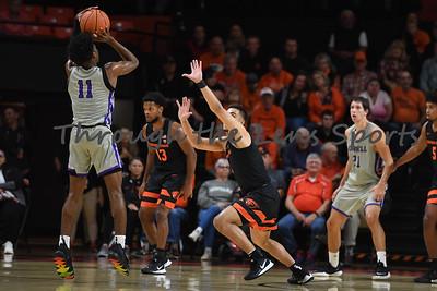 Oregon state mens basketball vs  Carroll College 102319 Leon N562