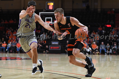 Oregon state mens basketball vs  Carroll College 102319 Leon N558