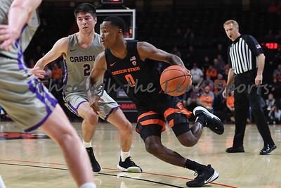 Oregon state mens basketball vs  Carroll College 102319 Leon N574