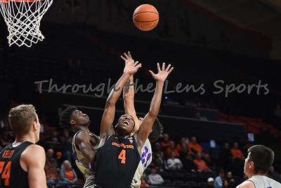 Oregon state mens basketball vs  Carroll College 102319 Leon N534