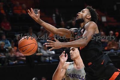 Oregon state mens basketball vs  Carroll College 102319 Leon N541