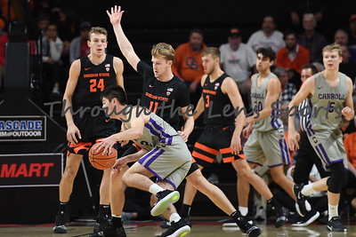 Oregon state mens basketball vs  Carroll College 102319 Leon N524