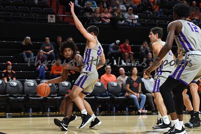 Oregon state mens basketball vs  Carroll College 102319 Leon N542